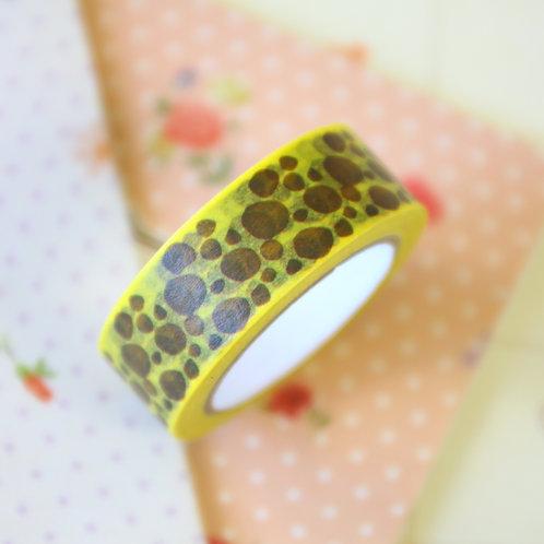 brown pattern washi tape