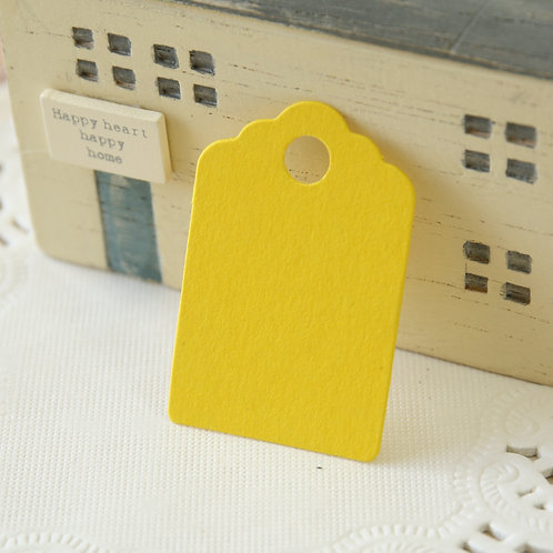 yellow scallop swing tags