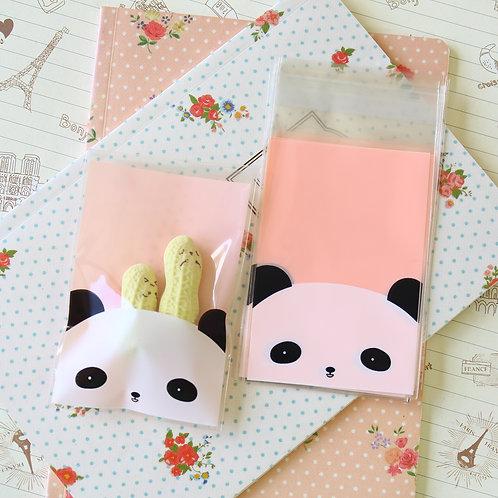 panda bear cute cartoon cello bags