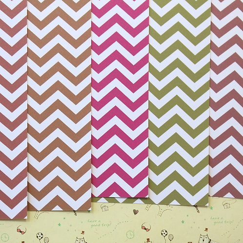 set 07 chevron art mix printed card stock