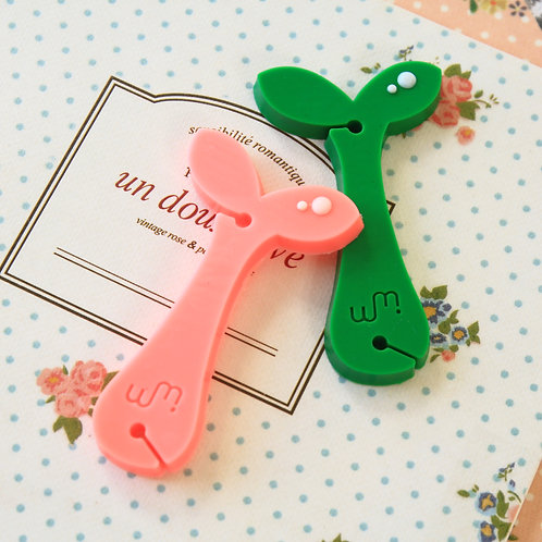 sprout tree sapling ear phones winder cable tidy