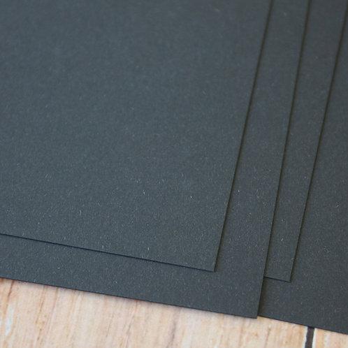 charcoal black vintage series card stock