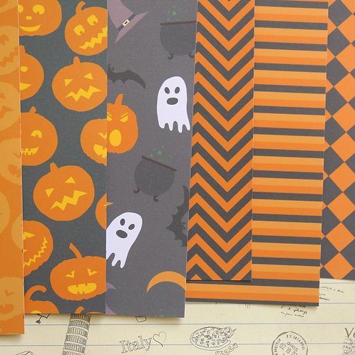 halloween patterns mix printed card stock