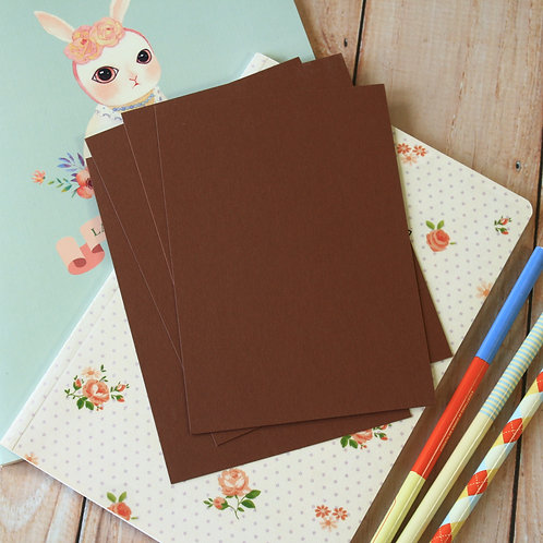 chocolate brown eco postcard blanks
