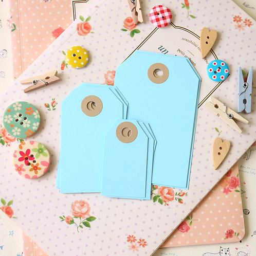 pale turquoise papermill series luggage gift tags