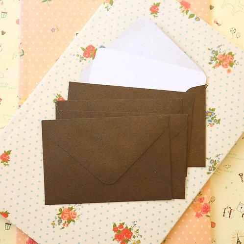 bronze pearlescent mini envelopes & notecards