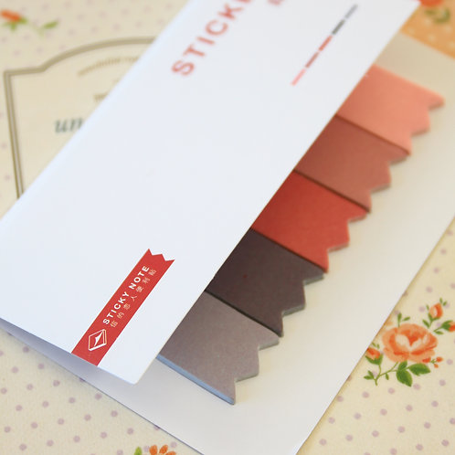 05 grey pink four season colour sticky notes tabs