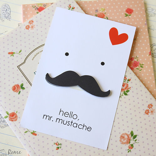 hello mr mustache cartoon sticky notes