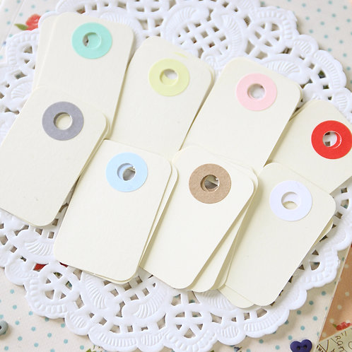 ivory magnolia rounded rectangle tags