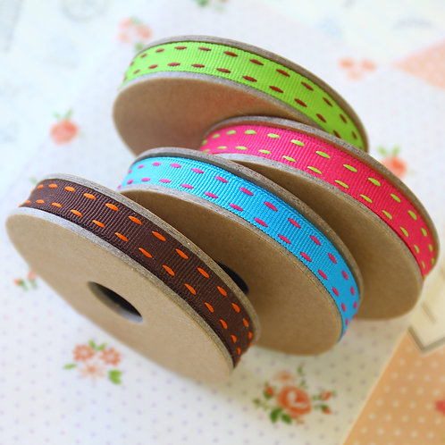 jane means vibrant stitched ribbons