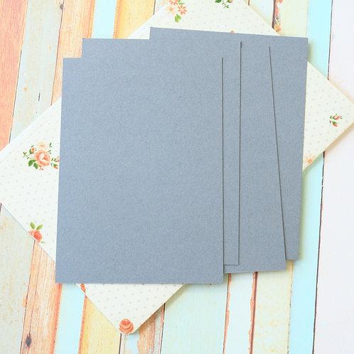 dark grey craft style blank postcards