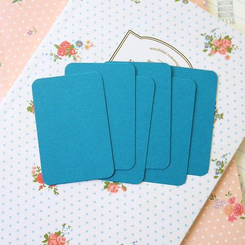 teal blue papermill colour blank business cards