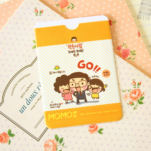 go momoi girl cartoon card holder
