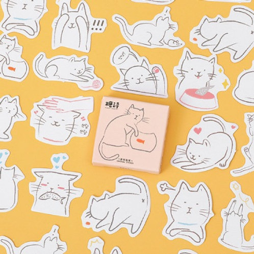 oh my fish candy poetry cute cartoon cats shapes stickers