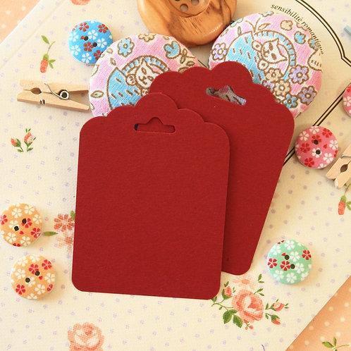 burgundy claret dark red ornate scallop tags