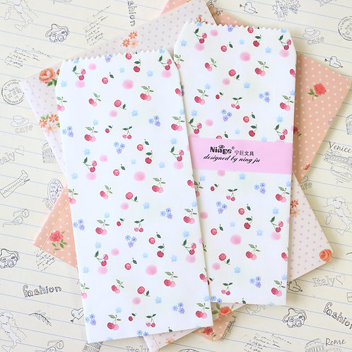berries natural pattern tall envelopes