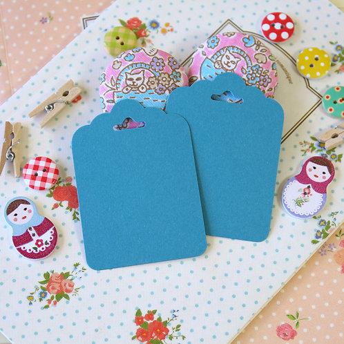 denim blue vintage series ornate scallop tags