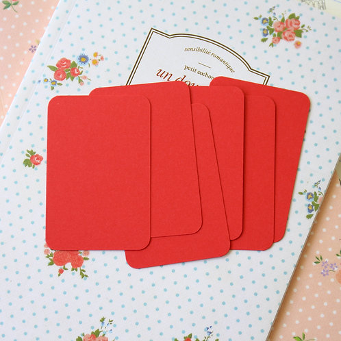 postbox red papermill colour blank business cards
