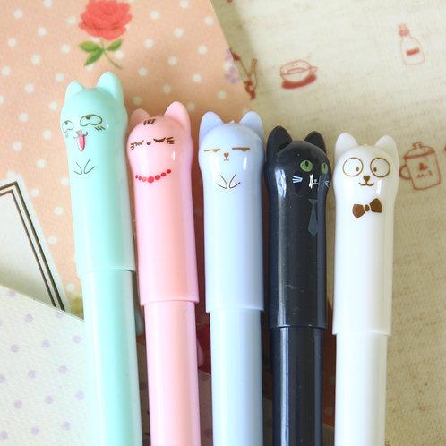 kawaii adorable cat cartoon pens