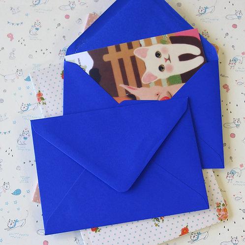 royal blue c6 banker envelopes