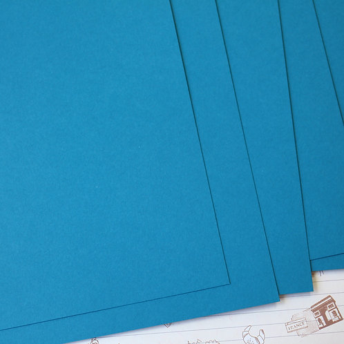 teal blue papermill series card stock