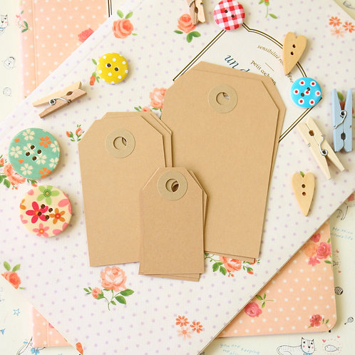 buff brown papermill series luggage gift tags