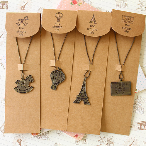 simple life vintage style novelty necklace