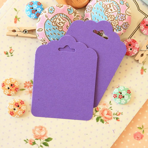 amethyst purple ornate scallop tags