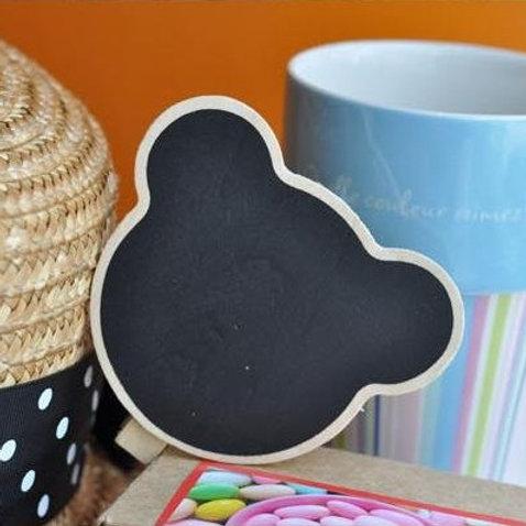 bear shape mini blackboard pegs clips