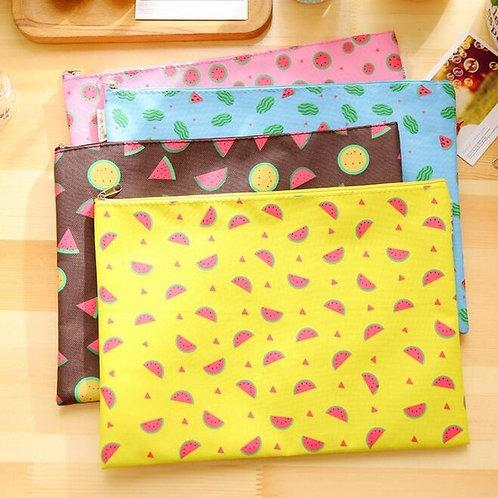summer fruits file bag
