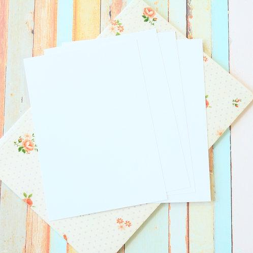 cotton white craft style blank postcards