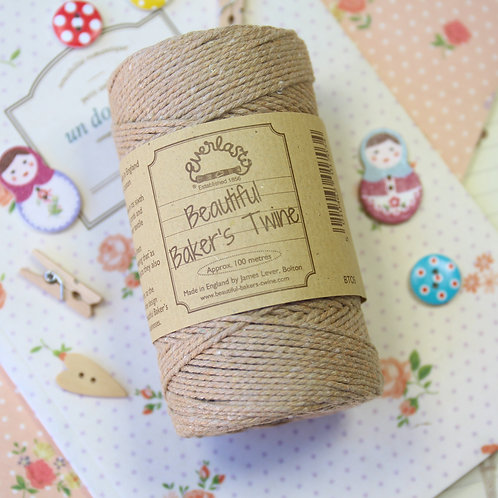 apricot everlasto solid colour bakers twine