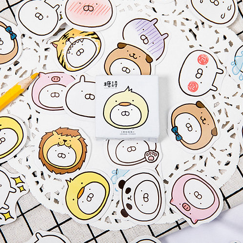 lovely rabbit candy poetry cartoon cute shapes stickers