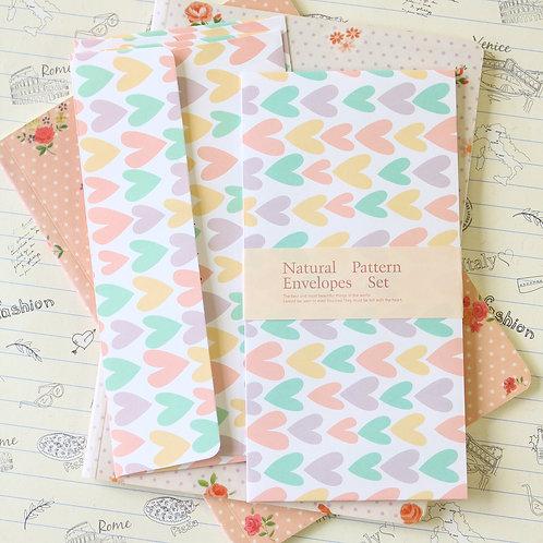 sketch hearts natural pattern envelopes