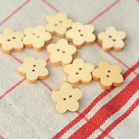 set 25 flowers craft ideas wooden buttons