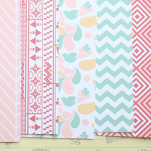 set 02 delicate patterns mix printed card stock