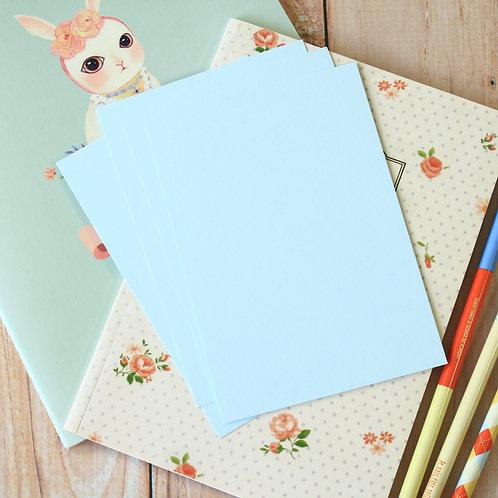 pale blue eco postcard blanks