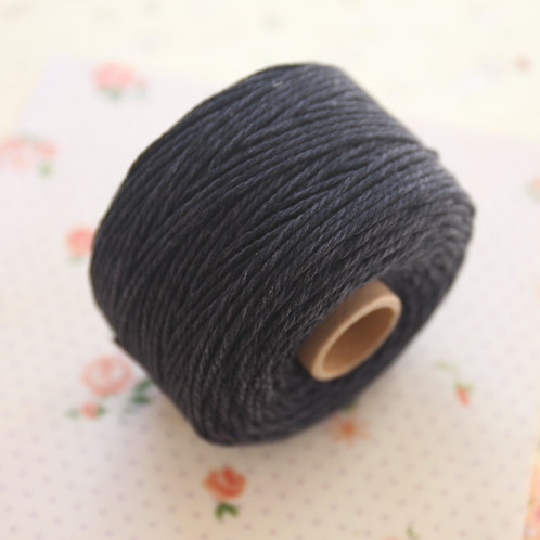 black twisted cotton bakers twine 80m