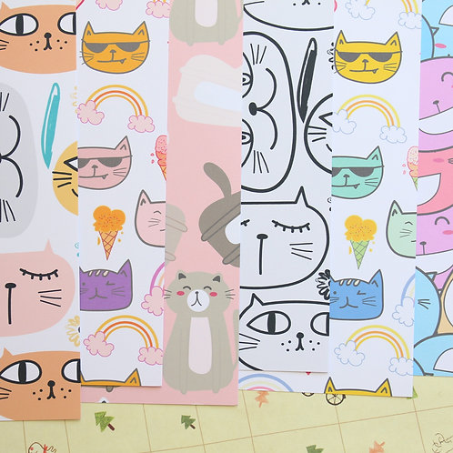 set 01 happy cats mix printed card stock