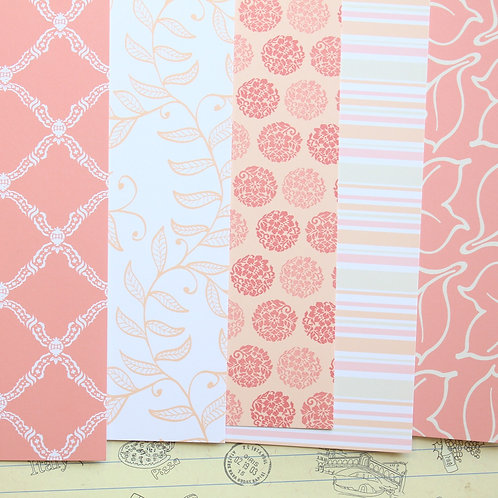 set 01 sweet peach mix printed card stock