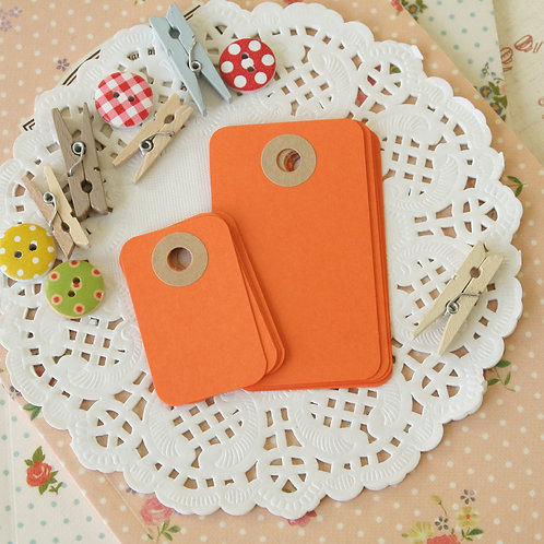 carrot orange rounded rectangle tags