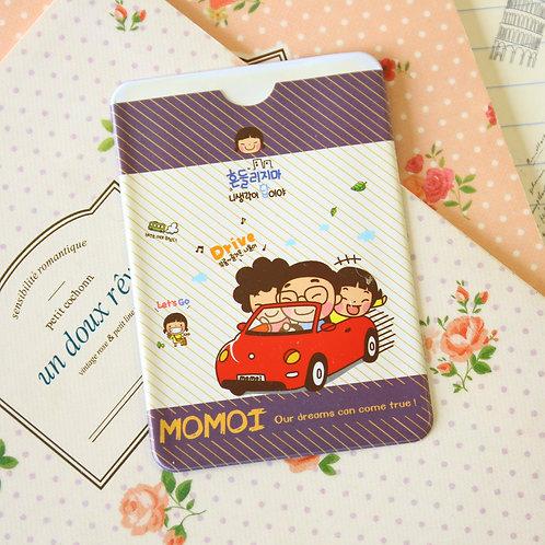 drive momoi girl cartoon card holder