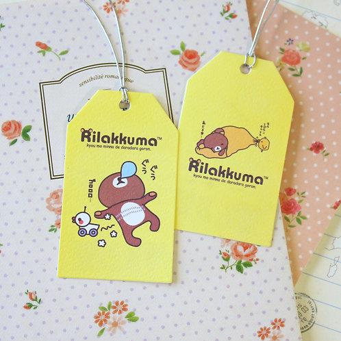 bubblegum rilakkuma bear cartoon gift tag card