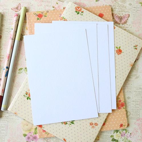 eggshell white postcard blanks