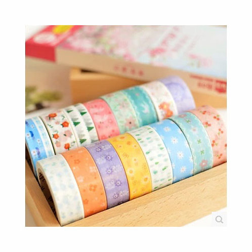 meetape floral pattern deco washi tapes