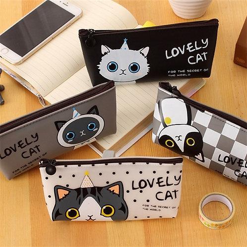 lovely cat cartoon pen bag
