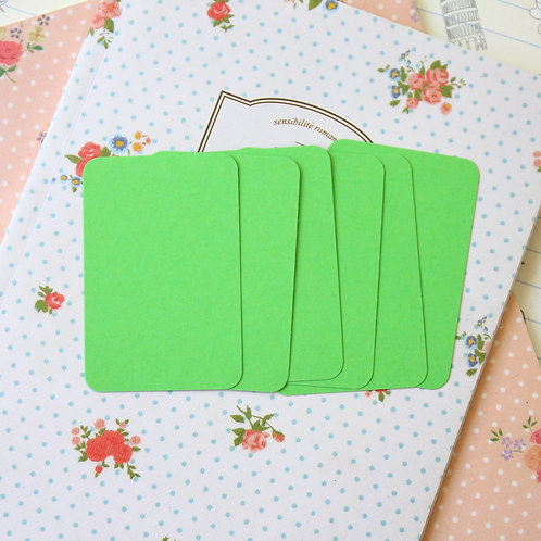 apple green papermill colour blank business cards