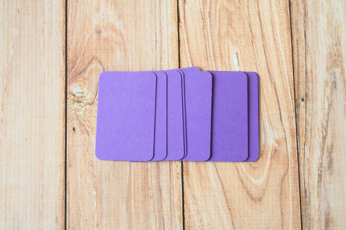 Amethyst purple blank business cards lemoncat shop get cute very eco friendly these are ready to use for customized stamped business name cards hang tags mini post cards or reheart Choice Image
