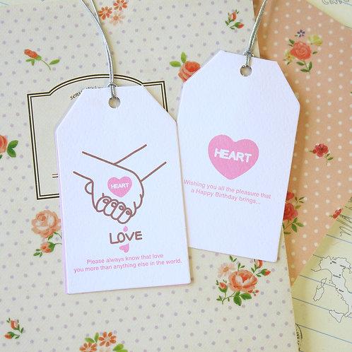 love kawaii cartoon gift tag card