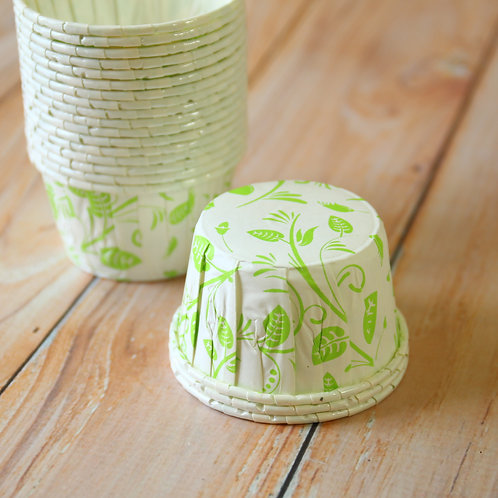 green leaves paper candy cups cupcake liner